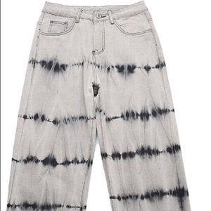 Wide jean pants